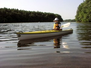 Nancy Loderick in her kayak