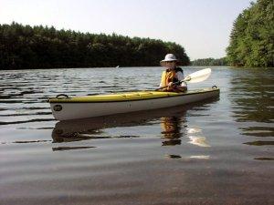 Nancy Loderick in her kayak