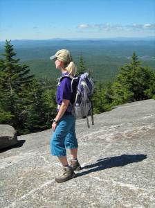 Nancy Loderick on Mt. Cardigan