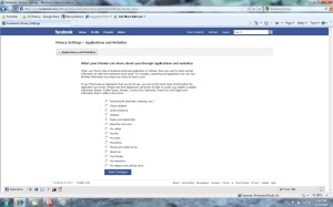 Facebook Application Privacy Share