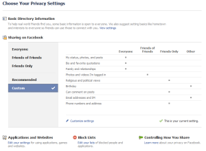 facebook privacy settings 052610