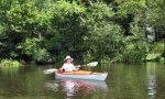 nancy loderick kayaking on river