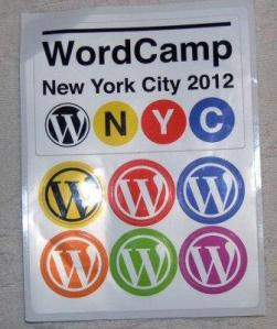 wordcamp nyc 2012 stickers