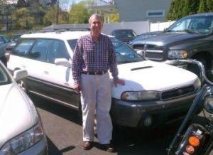 Ken with old Subaru