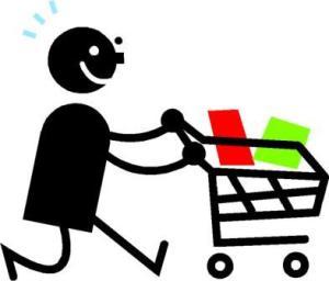 happy shopper at costco