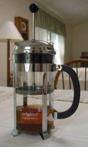 french press for tea