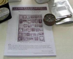 tea catalog and strainer