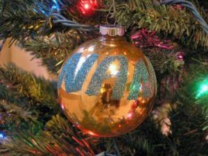 nancy christmas ornament