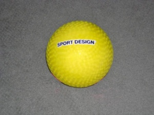 yellow playground ball