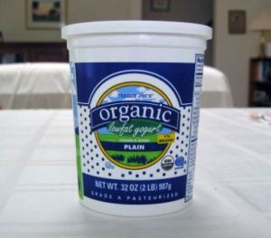 trader joes organic plain yogurt