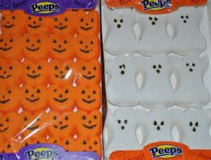 pumpkin and ghost peeps