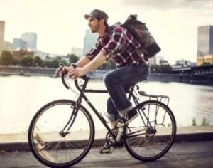 millenial on bike