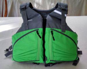 cool neon green life vest