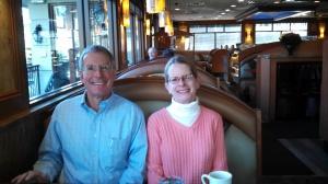 nancy and ken at diner