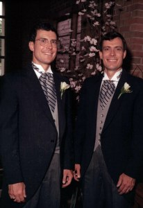 ken and david at wedding