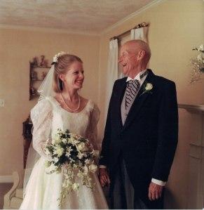 Nancy and Dad at wedding
