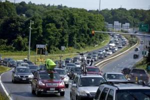 route 3 traffic jam