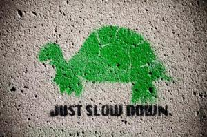 just slow down