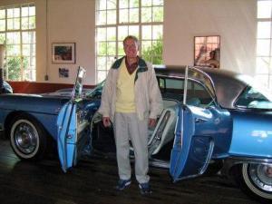 ken at car museum