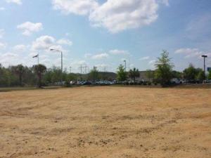 dirt parking lot