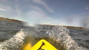 why kayak into the wind