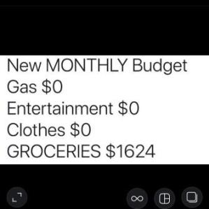 new monthly budget