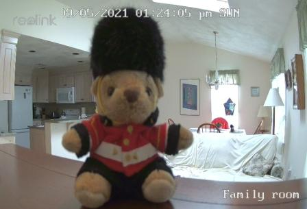 sir oliver and security camera