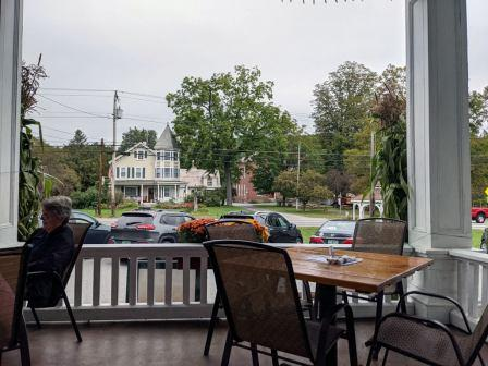 Chester VT Fullerton Inn front porch